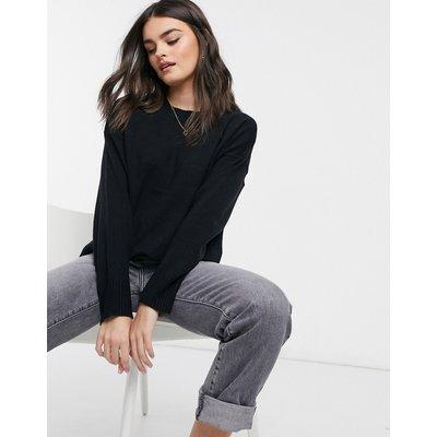 French Connection – Pullover in Schwarz mit überschnittenen Schultern