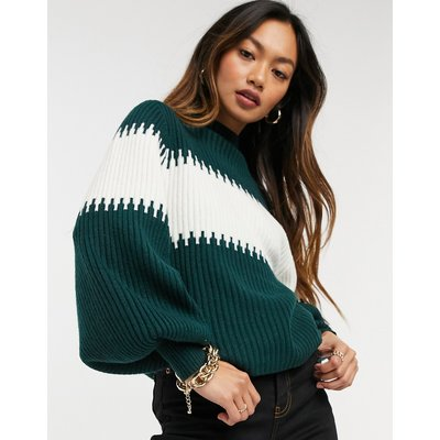 French Connection – Pullover mit Ballonärmeln-Weiß   FRENCH CONNECTION SALE