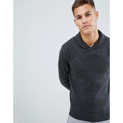 French Connection – Pullover mit Schalkragen-Grau