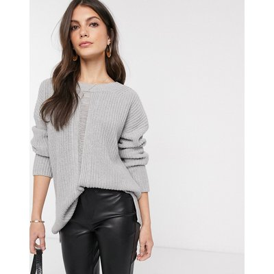 French Connection – Roche Mozart – Hochgeschlossener Strickpullover-Grau