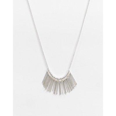 French Connection – Silberne Halskette mit Quasten