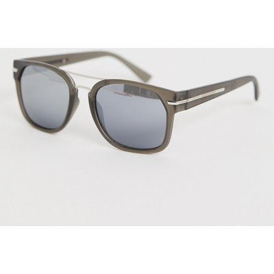 French Connection – Sonnenbrille mit eckigem Rahmen-Grau