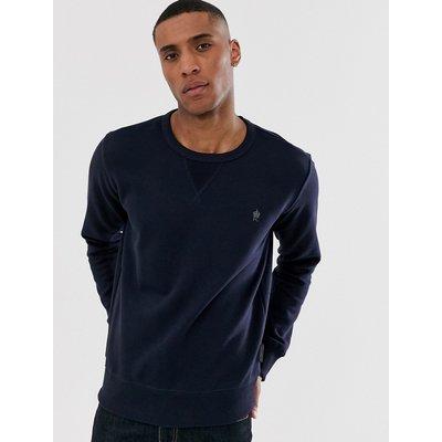 French Connection – Sweatshirt mit Rundhalsausschnitt und Logo-Navy