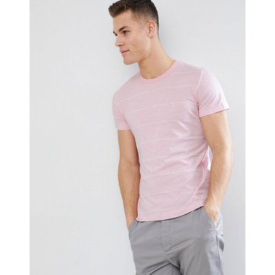 French Connection – T-Shirt mit schmalen Streifen-Rosa