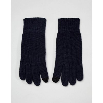 French Connection – Touchscreen-Handschuhe aus Rippstrick-Navy