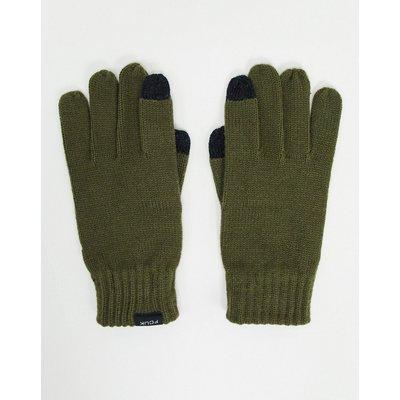 French Connection – Touchscreen-Handschuhe in Khaki-Grün