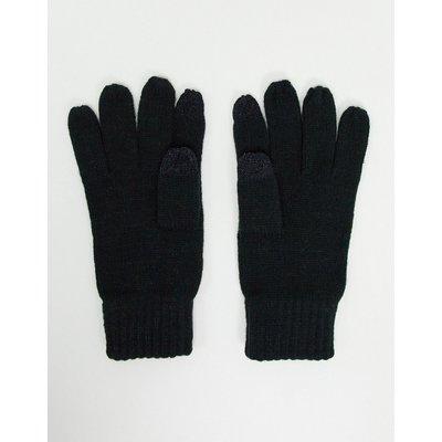 French Connection – Touchscreen-Handschuhe in Schwarz-Grau