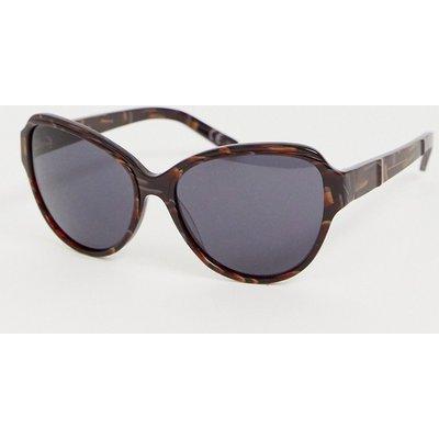 French Connection – Übergroße Sonnenbrille in Schildpatt-Optik-Braun