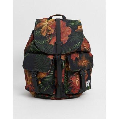 Herschel Supply Co – Dawson – Backpack in Schwarz mit tropischem Blumenmuster
