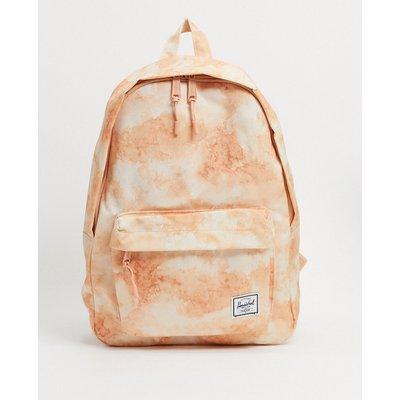 Herschel Supply Co – Klassischer, mittelgroßer Backpack in Pastell-Pfirsich mit Wolkenprint-Orange