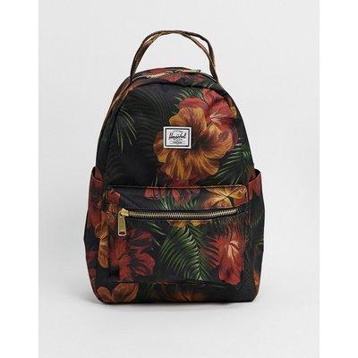 Herschel Supply Co – Nova – Kleiner Backpack in Schwarz mit Blumenmuster