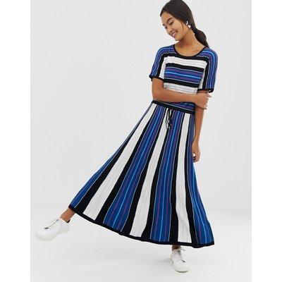 HUGO mix stripe dress-Black