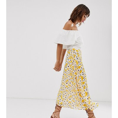 Ichi floral a-line skirt-Multi