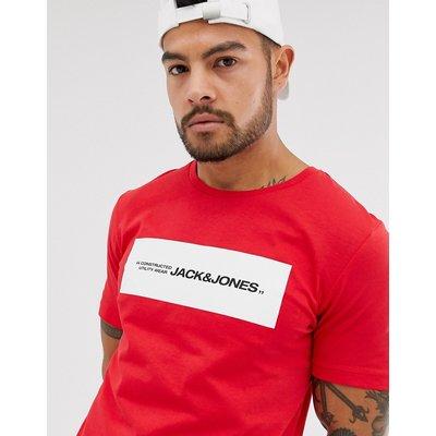 Jack & Jones Core – Rotes T-Shirt mit Logodruck