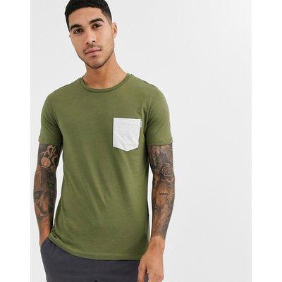 Jack & Jones – Core – T-Shirt mit Tasche-Grün