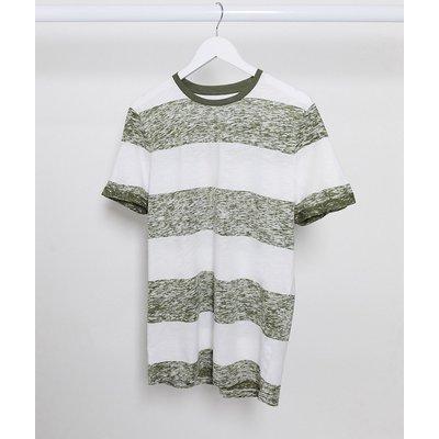 Jack & Jones – Gestreiftes T-Shirt-Weiß
