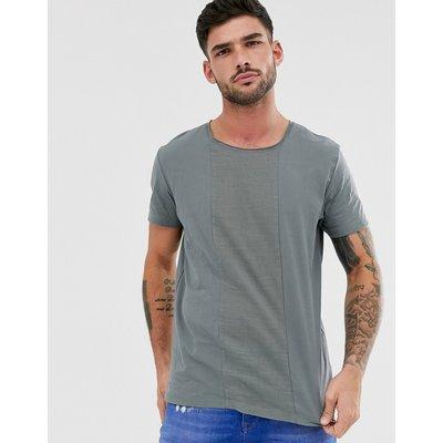 Jack & Jones – Hochwertiges Patchwork-T-Shirt in Grün