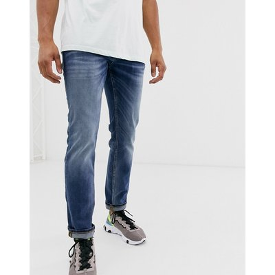 Jack & Jones Intelligence – Tim – Enge Jeans in Blau