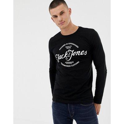 Jack & Jones – Langärmliges Oberteil mit Logo-Schwarz