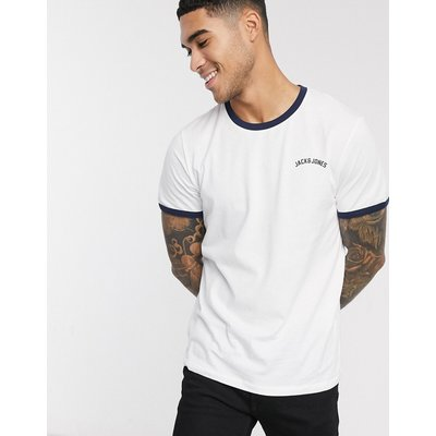 Jack & Jones – Originals – Ringer-T-Shirt-Weiß