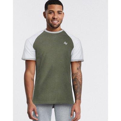 Jack & Jones – Raglan-T-Shirt-Grün