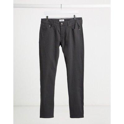 Jack & Jones – Schmal geschnittene Jeans in Dunkelgrau