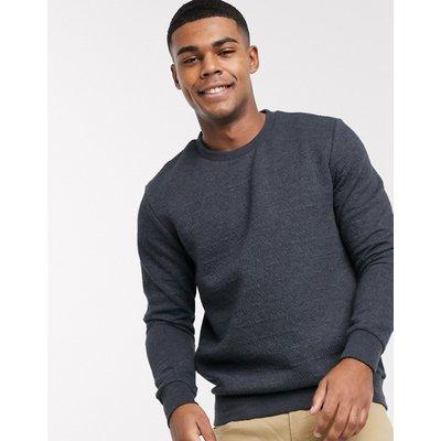 Jack & Jones – Sweatshirt aus Polyester-Baumwollmischung mit Rundhalsausschnitt-Navy