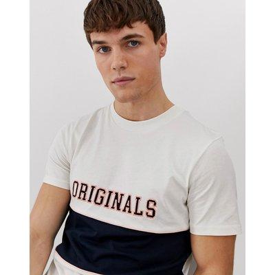 Jack & Jones – T-Shirt mit Farbblockdesign-Weiß