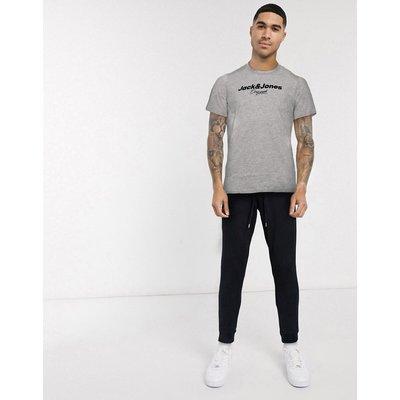 Jack & Jones – T-Shirt mit großem Logo-Grau