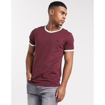 Jack & Jones – T-Shirt mit kontrastierenden Abschlüssen-Rot