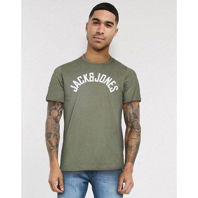 Jack & Jones – T-Shirt mit Logo auf der Brust-Grün