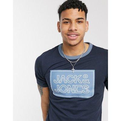 Jack & Jones – T-Shirt mit Logoprint-Navy