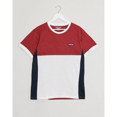 Jack & Jones – T-Shirt mit Rundhalsausschnitt-Rot