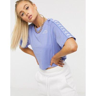 Kappa – Banda – Kurz geschnittenes T-Shirt in Veilchenblau-Violett