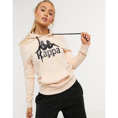 Kappa – Kapuzenpullover mit Logo vorn in Apricot-Rosa