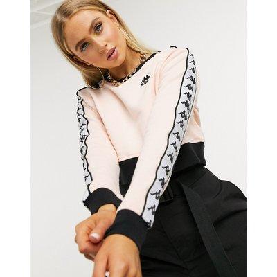 Kappa – Kurz geschnittener Pullover in Rosa