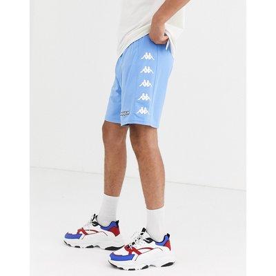 Kappa – Shorts mit seitlichem Logo und Kordelzug-Blau