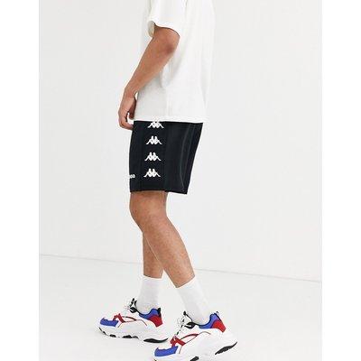 KAPPA Kappa – Shorts mit seitlichem Logo und Kordelzug-Schwarz
