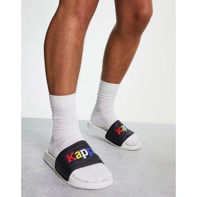 Kappa – Slider in Regenbogenfarben-Weiß