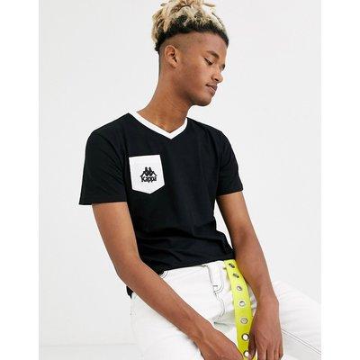 Kappa – T-Shirt mit Logo auf der Brust-Schwarz