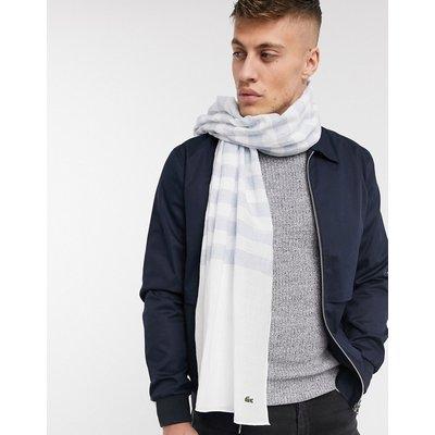 Lacoste – Gestreifter Schal-Weiß