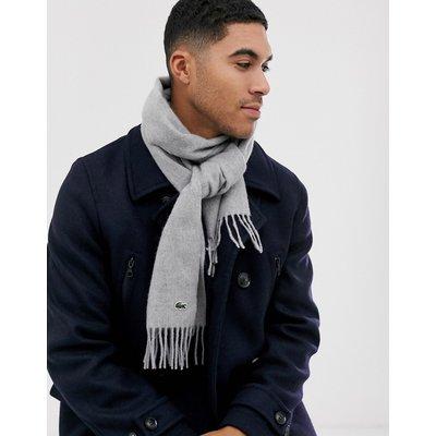 Lacoste – Gestrickter Schal in Grau