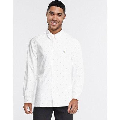 Lacoste – Langärmliges Hemd in Weiß