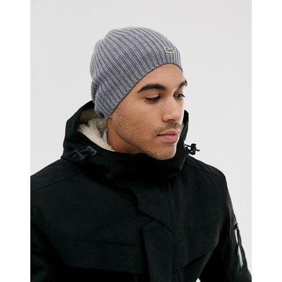 Lacoste – Lässige Wollmütze-Grau