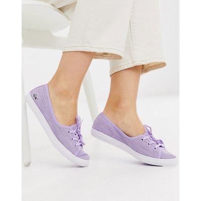 Lacoste – Lila Sneaker zum Hineinschlüpfen-Violett