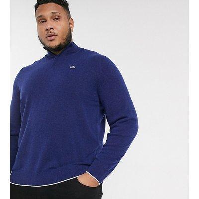 Lacoste PLUS – Sweatshirt mit kurzem Reißverschluss-Blau