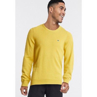 Lacoste – Pullover mit Rundhalsausschnitt-Gelb