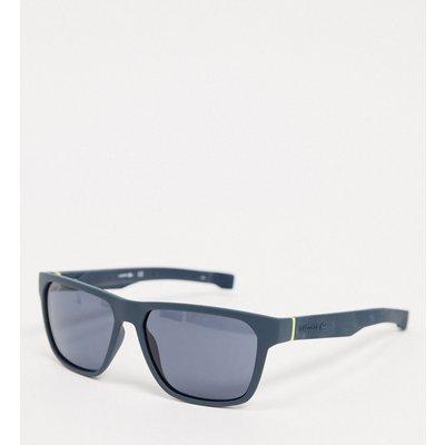 Lacoste – Rechteckige Sonnenbrille in Blau und Navy