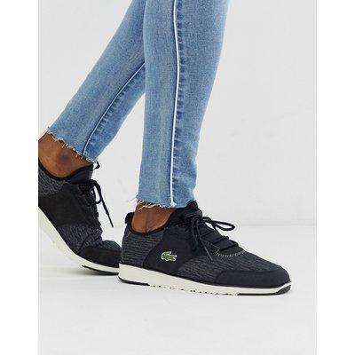 Lacoste – Schwarze Sock-Sneaker