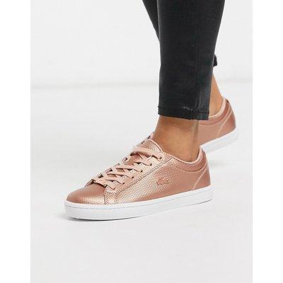 LACOSTE Lacoste – Sneaker zum Schnüren in Metallic-Rosa